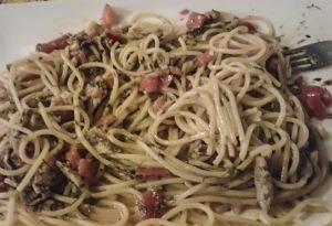 """pasta con le sarde. ristorante """"spaghetteria il mare"""" Rio Marina Isola d'Elba quelliconlavaligia"""