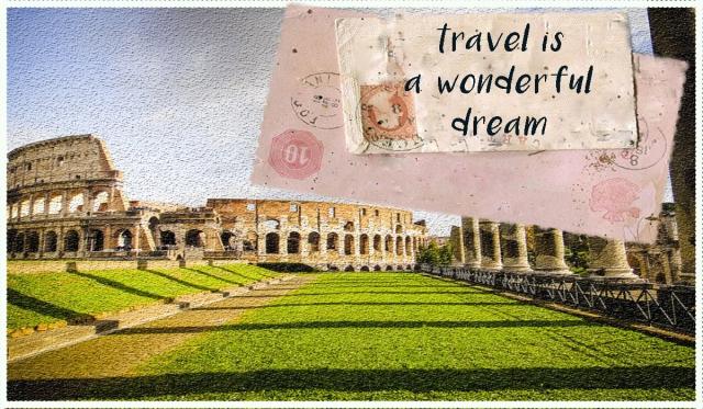 cartolina Quelli con la valigia 1